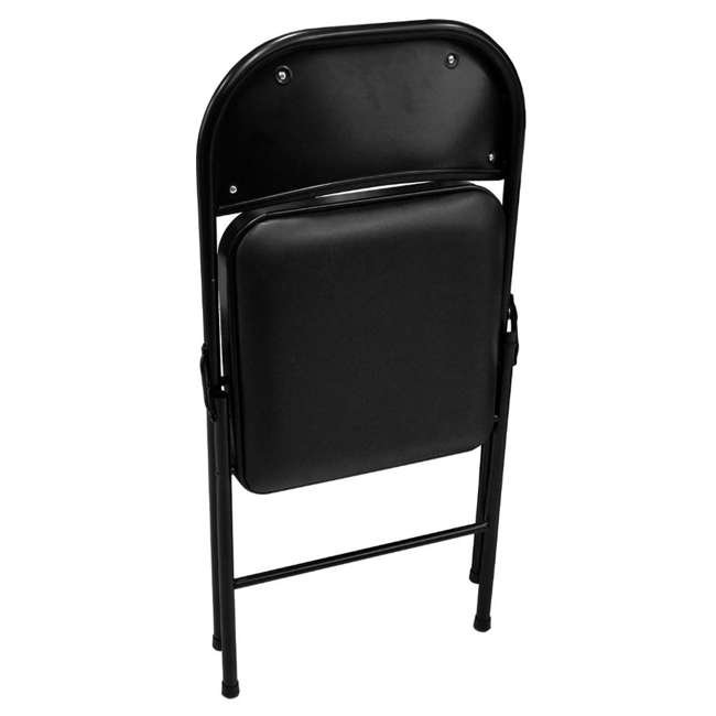 TGT8104PK Plastic Development Group Indoor Metal Padded Folding Party Chair (4 Pack) 4