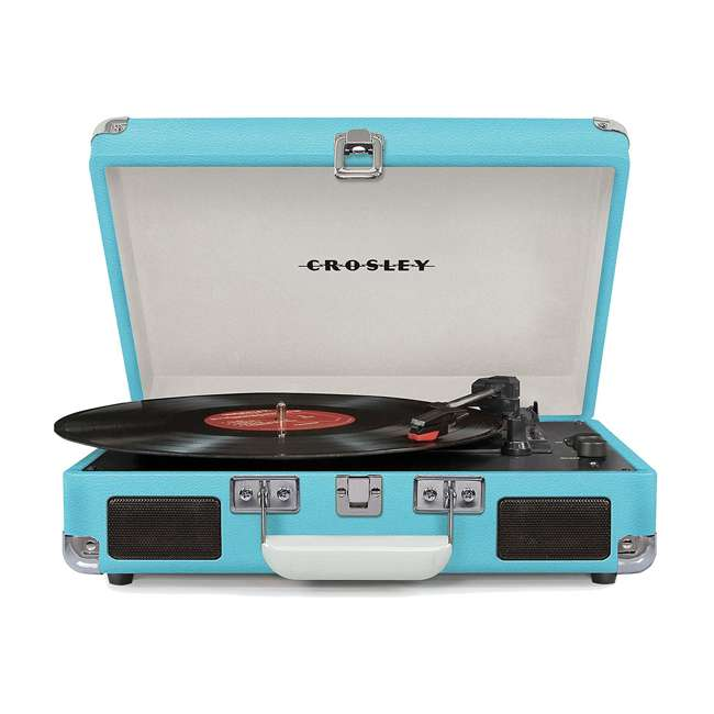 CR8005D-TU Crosley Cruiser Deluxe Portable Bluetooth Turntable, Turquoise 1