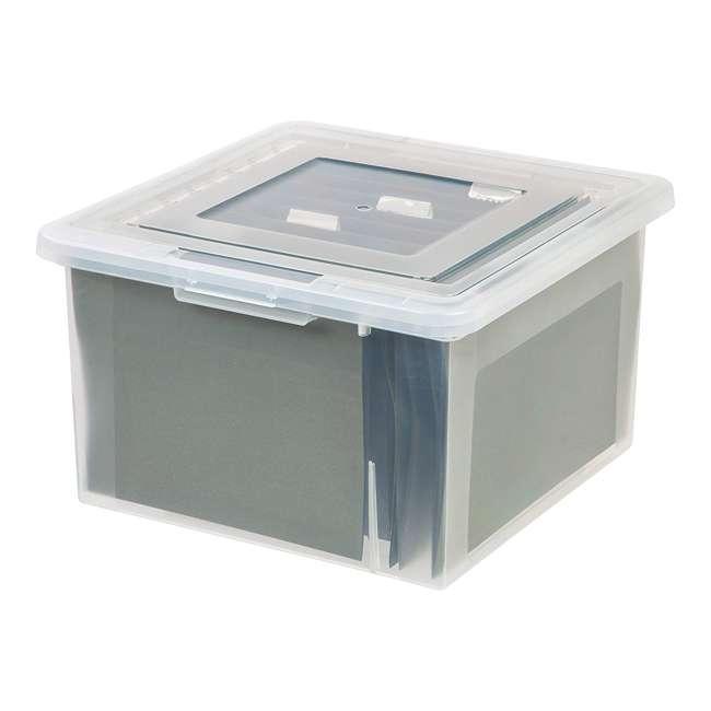 586490-4PK IRIS 586490 Clear Transparent Legal Size File Box Medium Dual Filter, Pack of 4 2