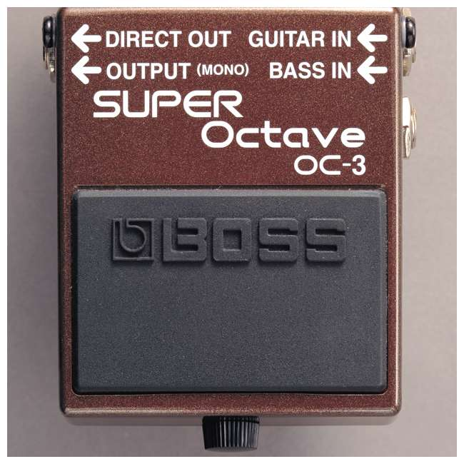 4 x OC-3 Boss OC-3 Electric Guitar Dual Super Octave Guitar Pedal, Brown (4 Pack) 4