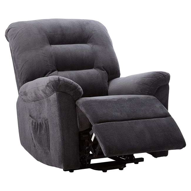 600398ii Coaster Home Furnishings Remote Power Lift Recliner, Charcoal 6