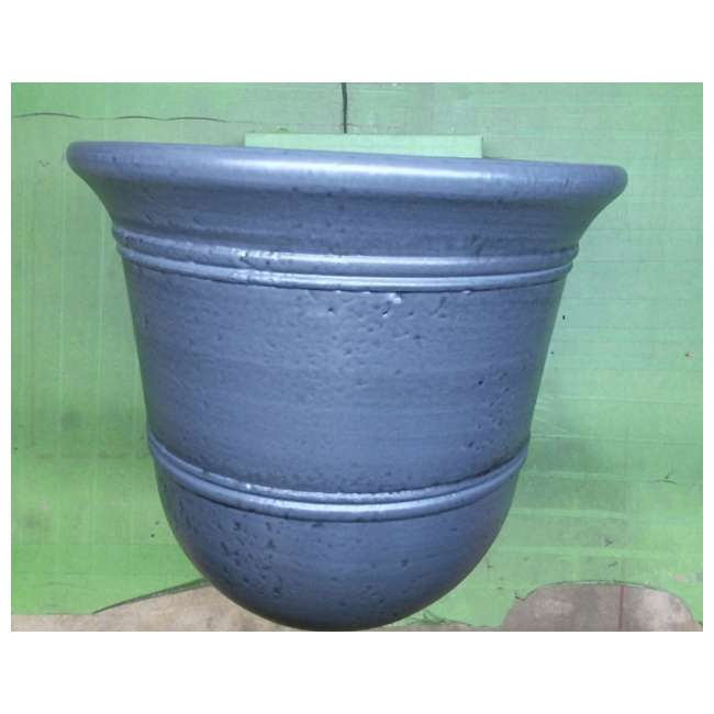1624GP4-Suncast-Planter uncast 1624GP4 Faux Concrete Planter, Resin, Grey (New Without Box) 1