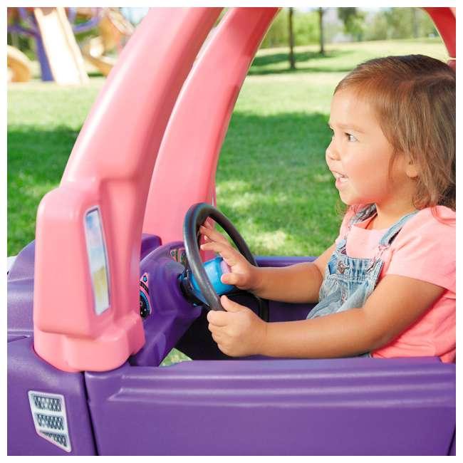 642777M-U-A Little Tikes Pink and Purple Princess Cozy Kids Ride On Truck (Open Box) 5