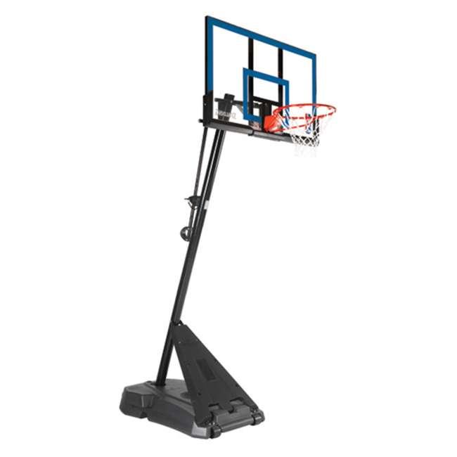75355 Spalding Hercules Exactaheight Portable Basketball Hoop System 50 Inch Acrylic