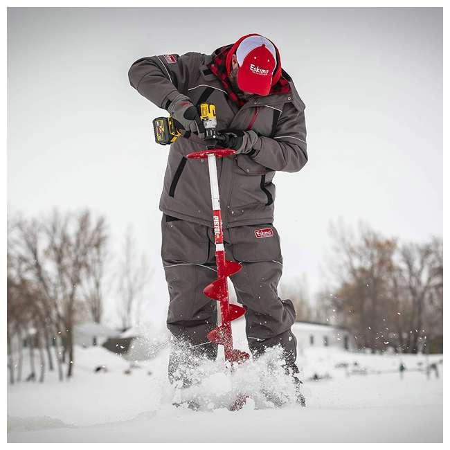 ESK-35600 Eskimo 35600 Ice Fishing 8 Inch Steel Blade Pistol Ice Auger Bit Attachment, Red 2