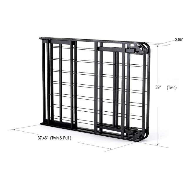 VMI-TIB2-112 intelliBASE Bi-Fold Metal Bed Frame, Twin (2 Pack) 2