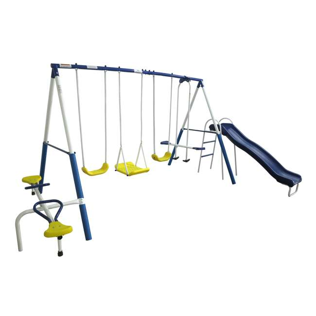 XDP-74320 + XDP-70113 XDP Playground Galore Kids Swing Set with Slide + Anchor Kit 1