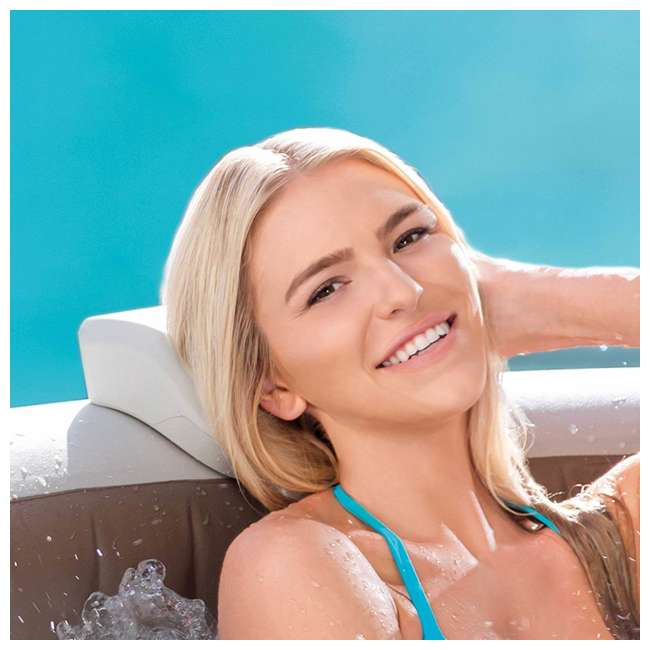28505E + 28407E + 28500E Intex 28407E Pure Spa 4 Person Inflatable Hot Tub With Headrest And Cup Holder
