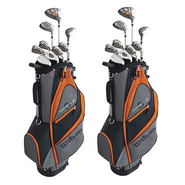 WGGC58300 Wilson Profile XD Teen Right Handed Complete Golf Club Set w/Orange Bag (2 Pack) 1