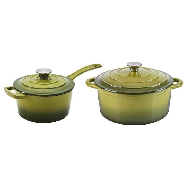 HAR101G + HAR113G Hamilton Beach Dutch Oven Pot & Sauce Pan, Green