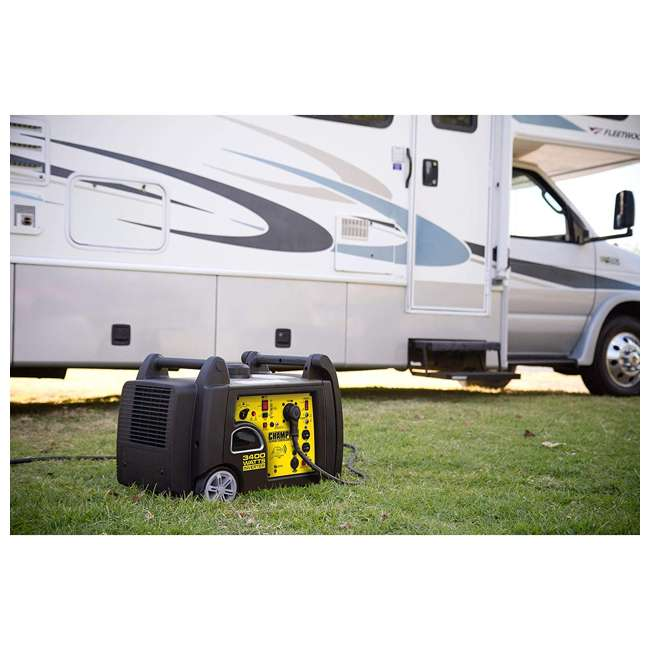 CPE-GN-100261 Champion 100261 34000-Watt Portable Wireless Electric Start Inverter Generator 4