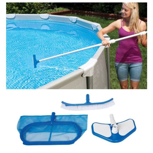 Swimming Pool Alarms Reviews: INTEX Deluxe Swimming Pool Kit Maintenance With