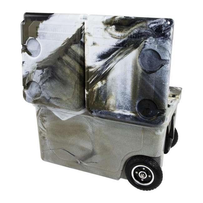 HC50-17P WYLD HC50-17P 50 Qt. Dual Compartment Insulated Cooler w/ Wheels, Prairie Camo 4