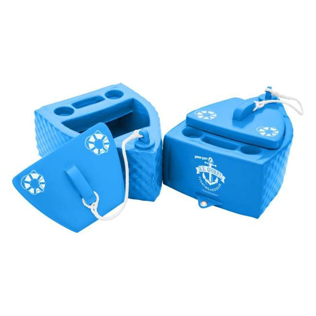 8841026 TRC Recreation Floating Super Soft Goodlife Drink Kooler for Pool/Hot Tub, Blue 2