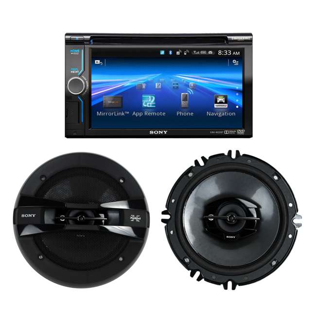 Sony XAV-602BT 6 1-Inch Cd/dvd/usb Receiver Bluetooth + 2) 6 5-Inch 260W  3-Way Speakers (Package)