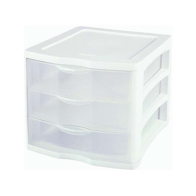 5 x 17918004 Sterilite ClearView Compact Portable 3 Storage Drawer Organizer Cabinet (5 Pack) 1