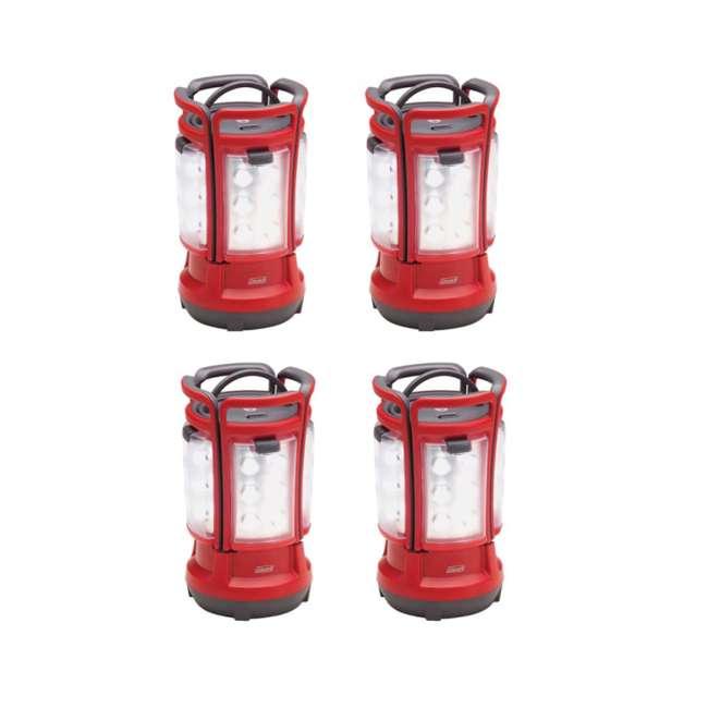 (4) Coleman Led Quad Lanterns Camping Night Lights