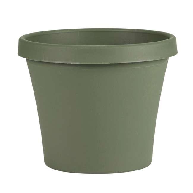 4 x 50414 Bloem Terra 14 Inch Round Plastic Planter Pot, Green (4 Pack) 1
