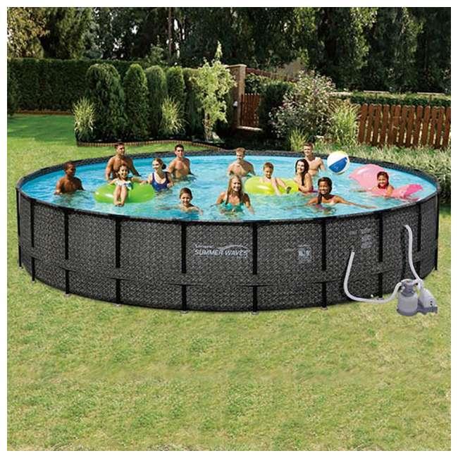 """P4A024521167 + 4 x K10423D00167 + KF0226B00167 Summer Waves 24' x 52"""" Pool Set + Corona Pool Floats (4 Pack) + Floating Cooler 2"""