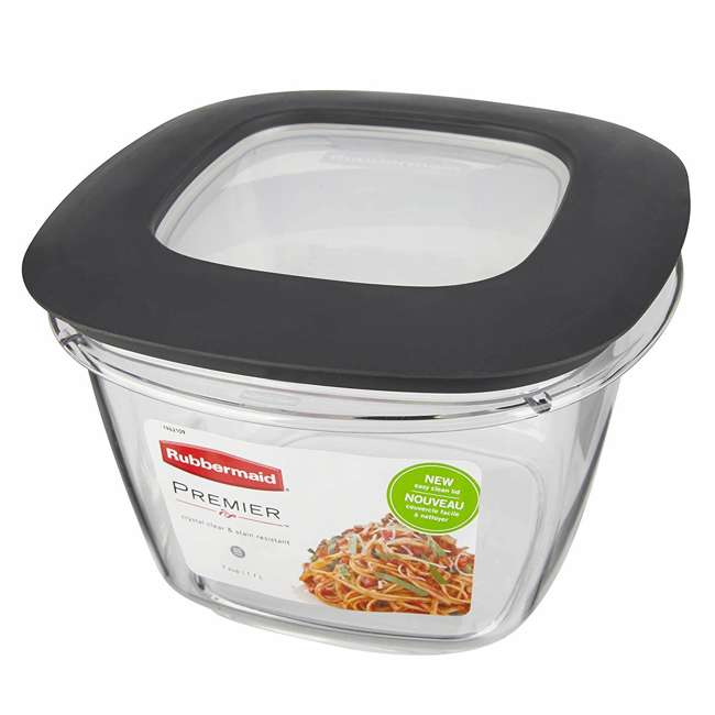 4 x 1951296 Rubbermaid Premier Easy Find Lids Clear Plastic Food Storage Containers (4 Pack) 3