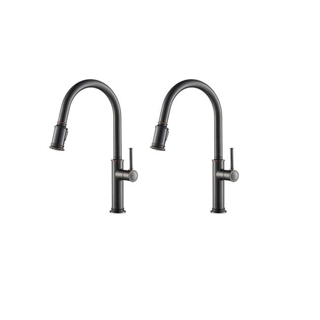 KPF-1680ORB Kraus Sellette Pull-Down Lever Kitchen Faucet, Bronze (2 Pack)