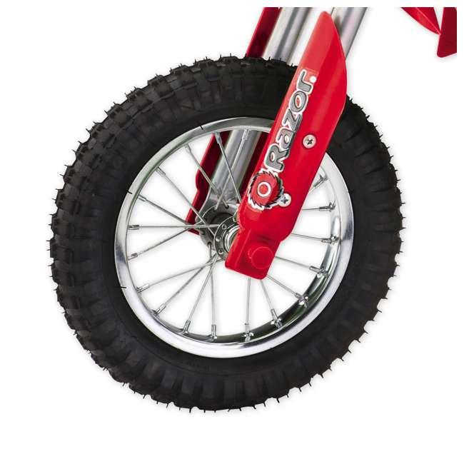 15128095-U-A Razor MX350 Dirt Rocket 24V Electric Motorcycle Bike - Red (Open Box) (2 Pack) 2