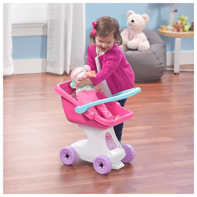 854100 Step2 Love & Care Baby Doll Kids Push Stroller Toy, Pink 4
