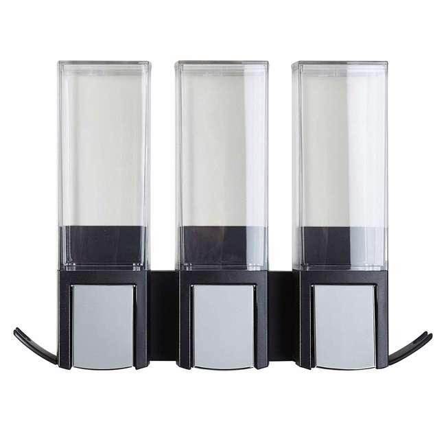 77384 Better Living CLEVER Luxury Shower/Bath Liquid Wall Dispenser, Black/Chrome