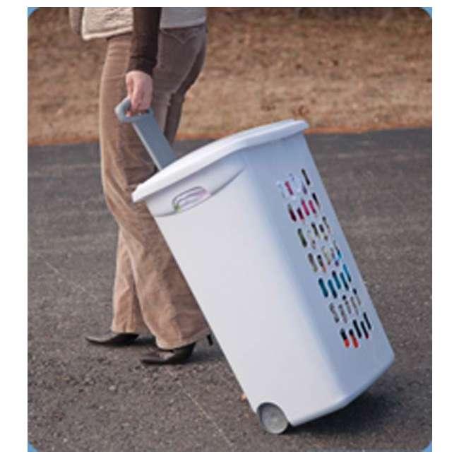 12228003-U-A Sterilite 12228003 Portable Wheeled Laundry Hamper-Open Box                1