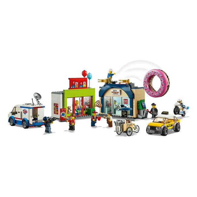 6251763 LEGO City 60233 Donut Shop Opening Town Playset Toy 790 Piece Block Building Set 2