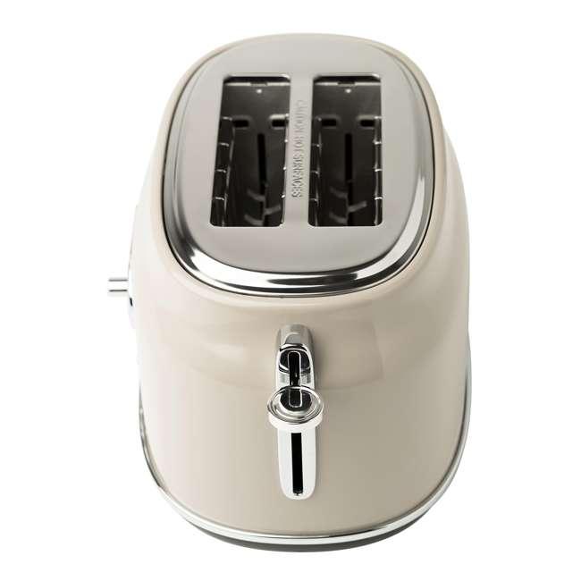75003-HD Haden 75003 Dorset Wide Slot Stainless Steel Retro 2-Slice Toaster, Putty Beige 1