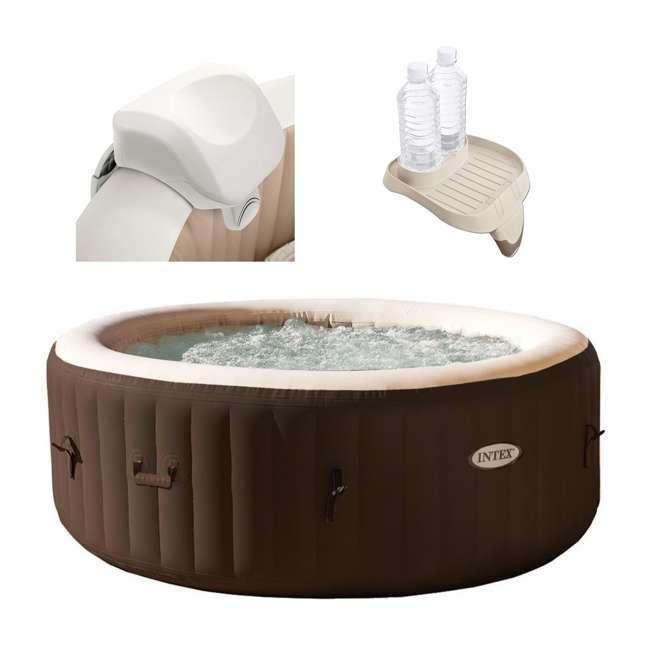 28505E + 28403VM + 28500E Intex 28403VM Pure Spa 4-Person Hot Tub, Headrest And Cup Holder