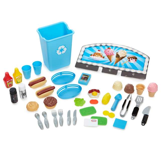 643644M Little Tikes 2-in-1 Kids Pretend Play Pop Up Ice Cream and Food Truck 3