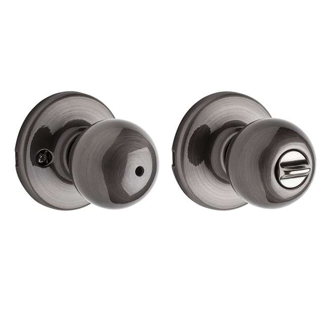 93001-766-U-A Kwikset 300P 15A Polo Bed/Bath Locking Door Knob, Antique Nickel (Open Box) 2