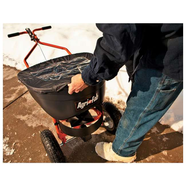 45-0502 Agri-fab 130 Pound Push Spreader for Ice Melt and Fertilizer 4