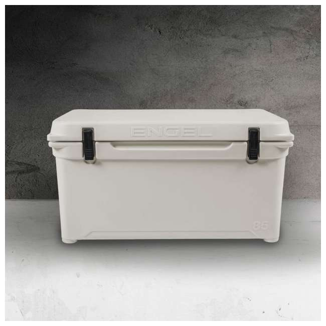 ENG85-CW-U-B Engel Coolers 76 Quart 96 Can Roto Molded Cooler, Coastal White (Used) 1