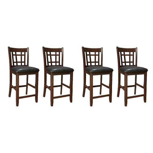 102889ii-PAIR Coaster Home Furnishings Lavon Hardwood Bar Stool, Black and Espresso (4 Pack)