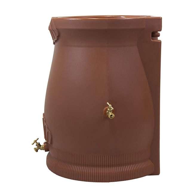 RWURN50-TC Good Ideas Rain Wizard Barrel Urn 50 Gallons, Terra Cotta 2