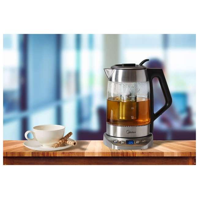 MEK17GT-E8-U-A Midea 1.7-Liter Variable Temperature Electric Tea Kettle, Silver (Open Box) 3