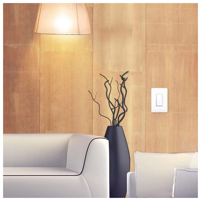 TPL-HS200-U-A TP-Link Smart White WiFi Light Switch Cover Compatible w/ Phone (Open Box) 3