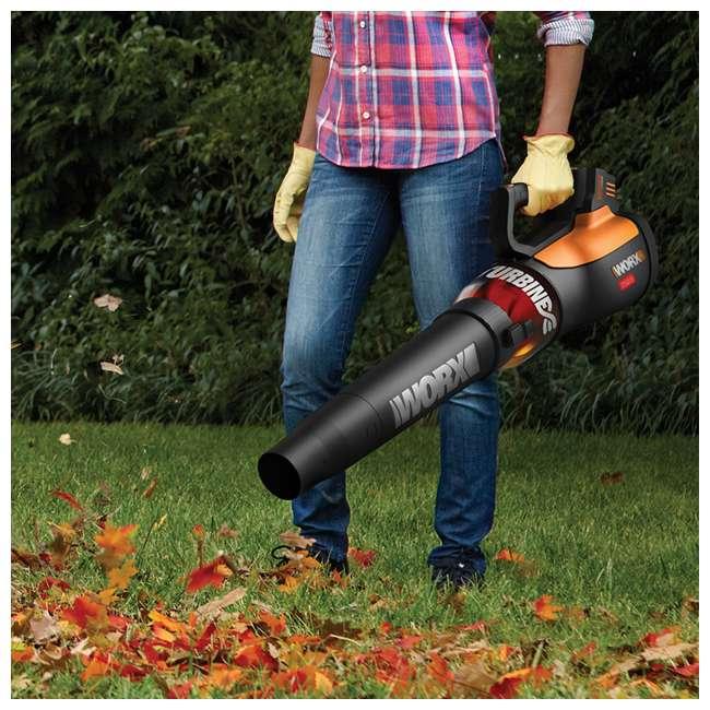 WG591 Worx WG591 56V 465 CFM 2 Speed Turbine Handheld Cordless Leaf Blower w/ Battery 4