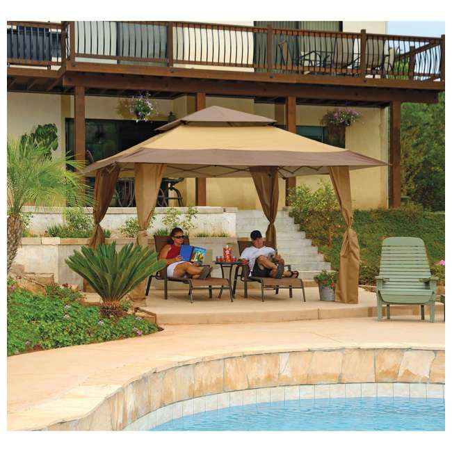 ZSB13GAZTB-U-A Z-Shade 13 x 13 Instant Canopy Outdoor Shelter Tan Brown (Open Box) (2 Pack) 3