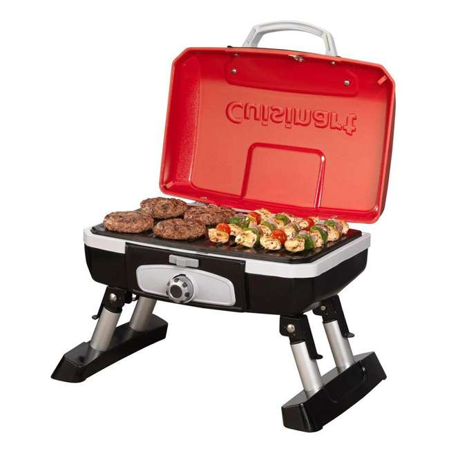 CGG-180T Petite Gourmet Mini Gas-Fueled Outdoor Grill, Red 1