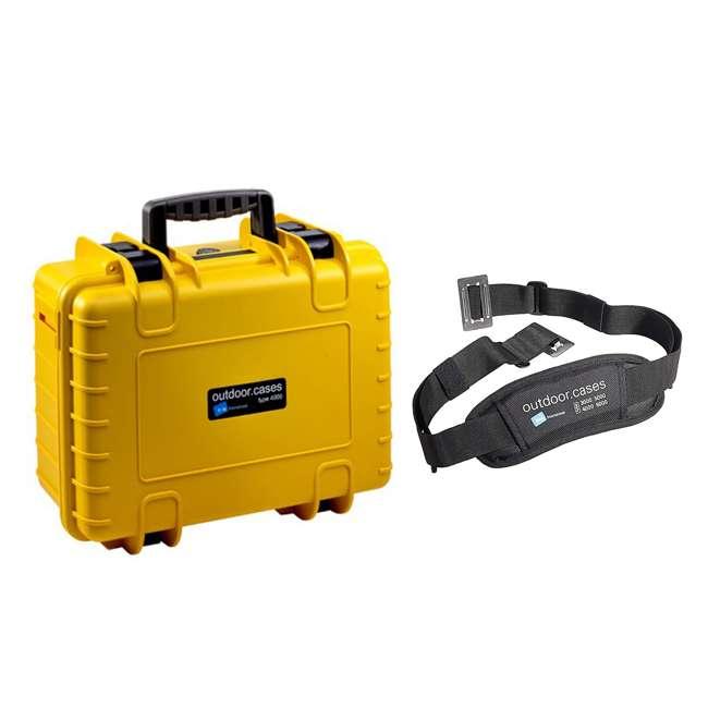 4000/Y + CS/3000 B&W International Hard Plastic Outdoor Storage Case and Shoulder Carry Strap