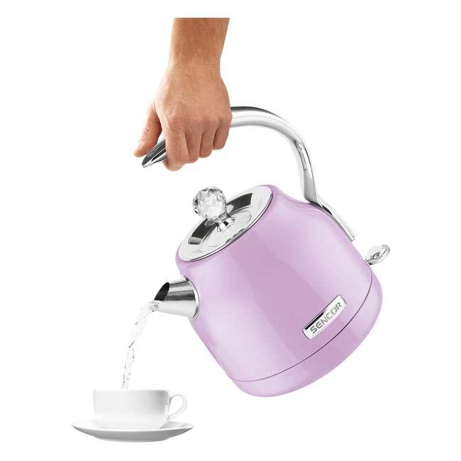 SWK45VT-NAB1 Sencor SWK45VT 1.2L Crystal Electric Kettle & Hot Water Tea Pot, Light Purple 2