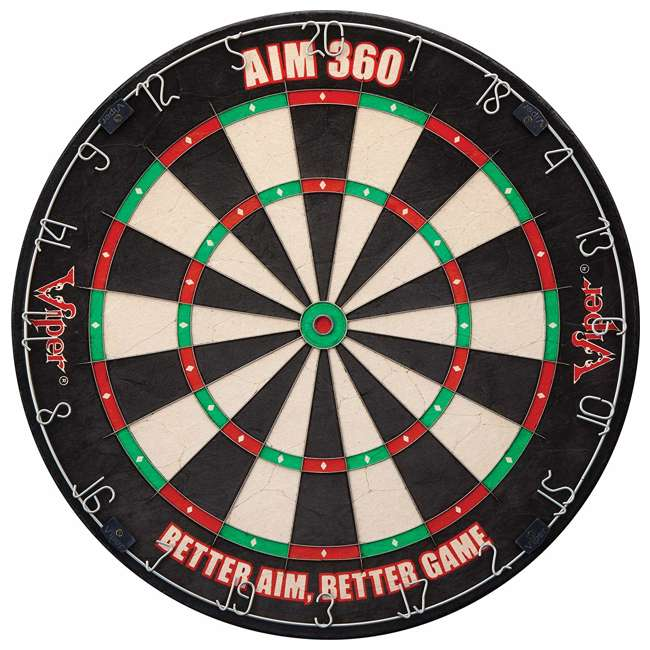42-6008 Viper AIM 360 Sisal Self Healing Practice Dartboard w/ Removable Aiming Circles
