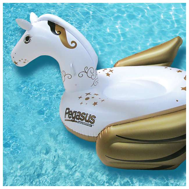 90707-U-A Swimline Giant Pegasus Inflatable Ride On Swimming Pool Float Lounger (Open Box) 4