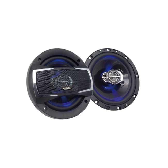 DS-A1673LE Audio Drift DS-A1673LE 6.5 Inch 3 Way Car Audio Speakers w/ LED Lights, Pair