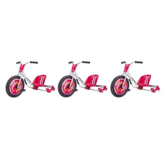 3 x 20036559 Razor Flash Rider 360 Drifting Trike Ride-On Outdoor Kids Tricycle, Red (3 Pack)