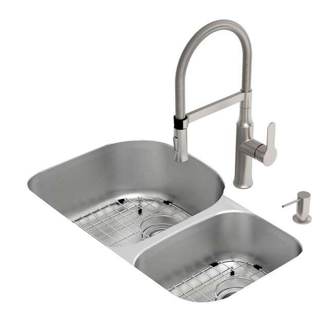 KBU23E-OB Kraus Outlast 33-Inch Stainless Steel Undermount Double Bowl Sink (Open Box) 2